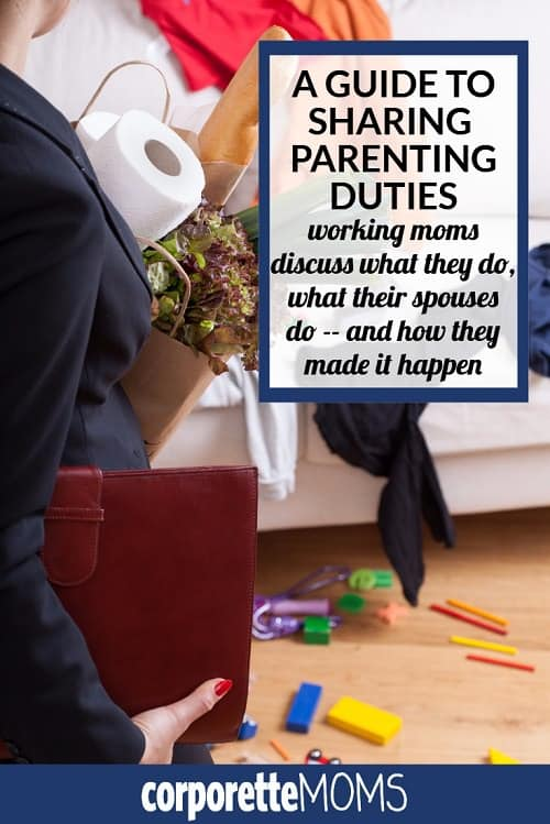 A Guide to Sharing Parenting Duties: Working mothers discuss what they do, what their spouses do -- and how they made it happen.
