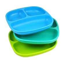 Kids' Plates Set: Re-Play Divided Plates