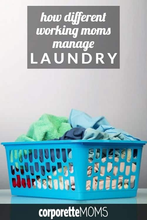 Fun discussion about working moms and LAUNDRY! Every working mom has her own system here so this was a really fun discussion: who does the laundry in your house? How often is it done, have you outsourced any part of it, such as by giving the kids laundry chores or asking the nanny or au pair to do the kids' laundry?
