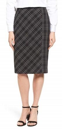 plaid pencil skirt