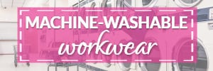 machine-washable work clothes
