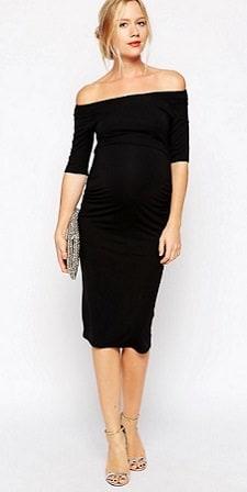 60c2e4da21e Maternity Monday  Bardot Dress with Half Sleeve - CorporetteMoms