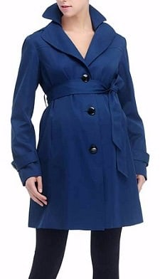 affordable maternity trench coat