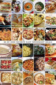 news roundup - easy weekday meals