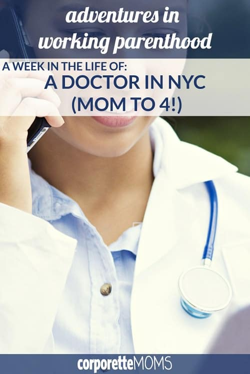 Huge thanks to this NYC doctor mom for sharing a week in her life with us, including how she and her husband manage four kids (including one with special needs), an au pair, and two big careers.
