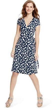 Print Work Dress: Boden Summer Wrap Dress