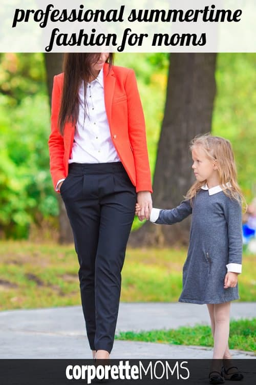How did your summer workwear choices change after having kids -- what will you NOT wear anymore, or what fashion changes have daycare dropoff or other childcare issues brought about due to logistics, comfort, or more? We're sharing the best tricks for professional summertime fashion for moms.