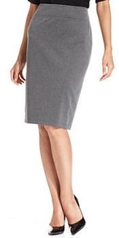 pull-on ponte skirt