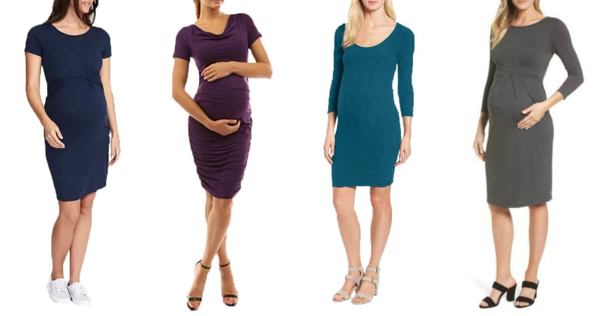 Stylish maternity dresses to wear to work