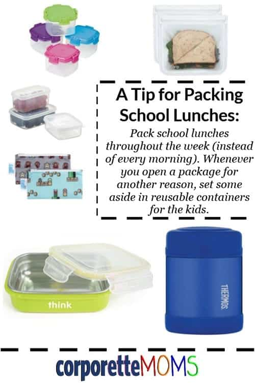 Kat shared her easiest tips for packing school lunches -- as well as her favorite reusable lunch containers -- for working mothers and their caregivers. A super easy tip: instead of packing lunch in the morning, do it throughout the day -- whenever you have a package open, set some aside in a reusable container for your kiddo!