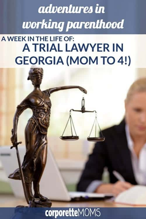 Curious about a trial lawyer's work-life balance? A working mom in Georgia shares her work-life balance as a trial lawyer who's raising four kids with her husband, a stay-at-home-dad.