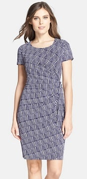NYDJ 'Veronica' Print Side Tie Sheath Dress