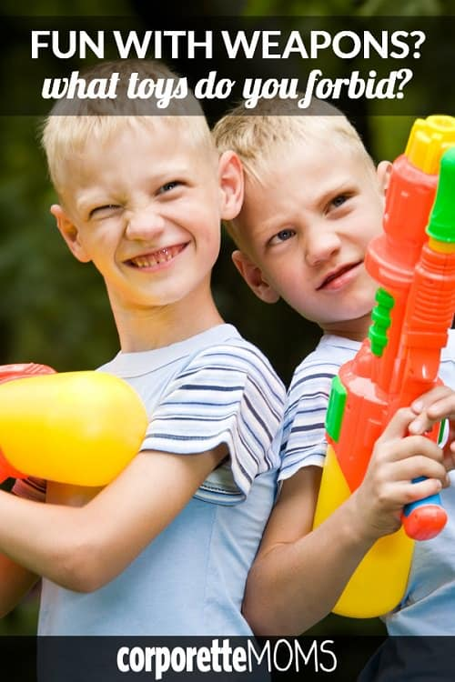 We asked our working mom readers: do you let your kids play with water guns? What toys do you forbid or otherwise not let your kids play with? If your kiddo is gifted a toy gun -- or goes to a house where kids play with toy weapons -- do you freak out a little bit? Great discussion among the professional working moms from all over the country!