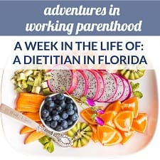 working mom dietitian assistant manager florida