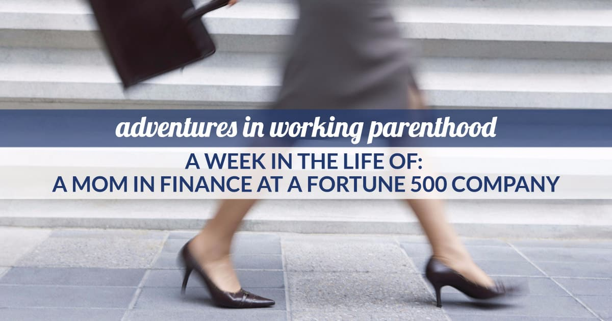 working mom in finance at a fortune 500 company